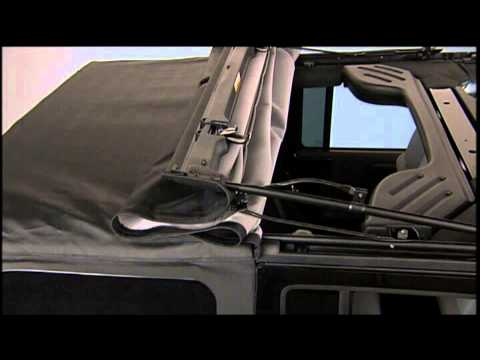 2013 jeep wrangler soft top partial lowering youtube. Black Bedroom Furniture Sets. Home Design Ideas