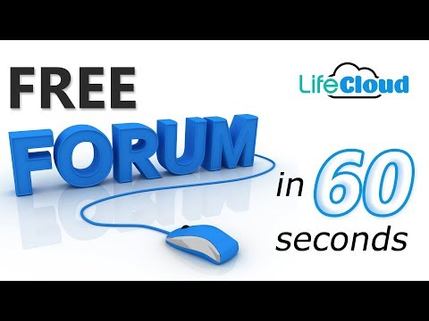 Easy Forum Setup - Create a Forum FAST and FREE | Get a Forum setup in Seconds with LifeCloud