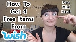 How To Get 4 Free Items From WISH (with haul)