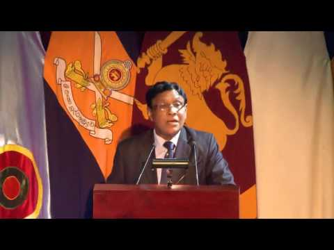 Association of Retired Flag Rank Officers - General Deshamannya Denis Perera Oration 2016