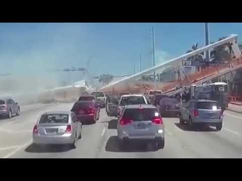 FIU BRIDGE COLLAPSE IN SLOW MOTION