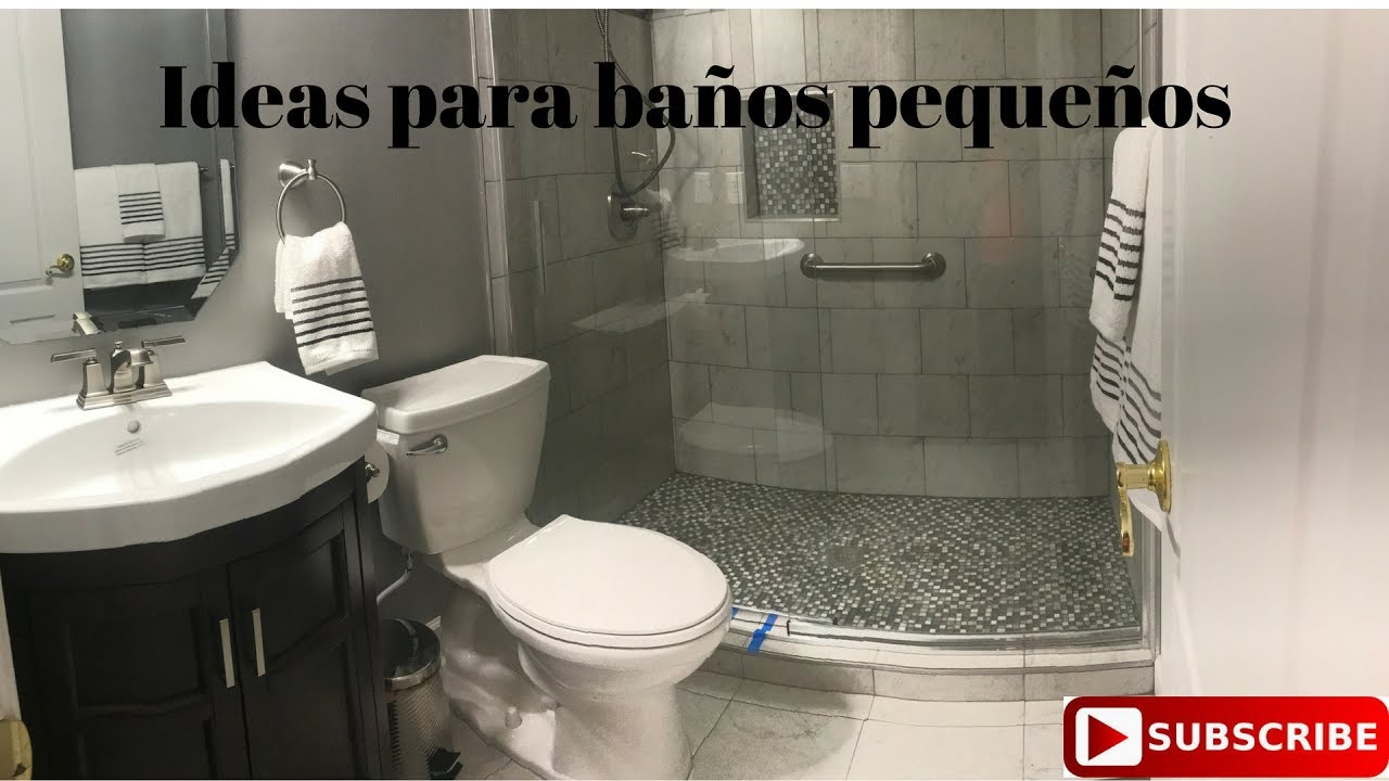 Ideas de remodelacion para ba os peque os youtube for Banos para departamentos pequenos