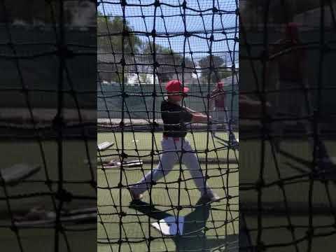 Chase Stoddard hitting Homedale High School ID