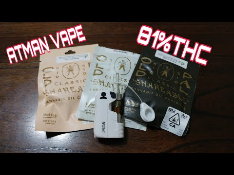 Atman Lucky Bear vaporizer world's smallest Vape +old pal 81% THC vape cartridge