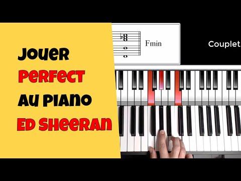 Ed Sheeran Perfect piano - Tuto piano facile (extrait)