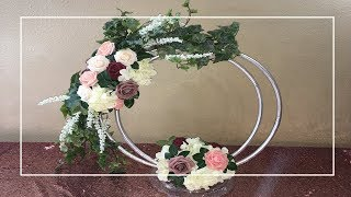 DIY Dollar Tree Elegant Hula Hoop Floral Centerpiece | Enchanted Garden Floral Arrangement