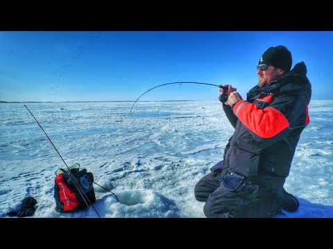 The BEST Ice Fishing Rod And Reel Selection For Walleyes!