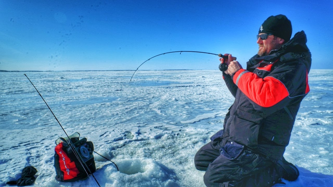 The best ice fishing rod and reel selection for walleyes for Ice fishing youtube