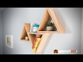 DIY TRIANGLE SHELVES LESS THAN $20