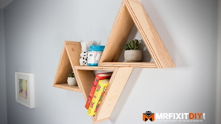 Today I show you how to make some quick, easy, and inexpensive triangle shelves that add a stunning modern touch to any room