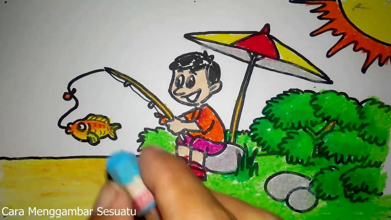Lukisan Wau Kartun