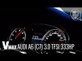 Audi A6 2011 (C7), 3.0 TFSI 0-266 km/h. acceleration Vmax, topspeed