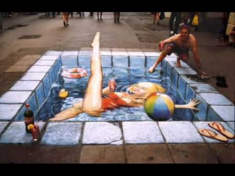 Strange 3D pictures painted on the ground!!!!!!!!Watch