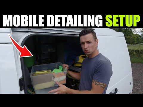 Car Detailing Van Set Up | THE MOMENT YOU ALL BEEN WAITING FOR!!! Ford Transit Connect