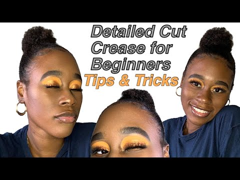 how to beginner friendly cut crease tutorial for hooded