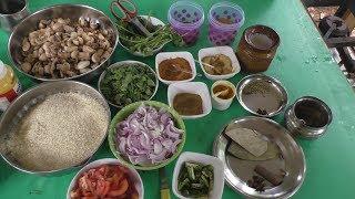 village style mushroom biryani in tamil - Cooking vlog / Cooking By Village food Recipes