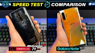 Note10 Plus Vs Oneplus 7t Pro McLaren Edition Speed Test   The Fastest Flagships