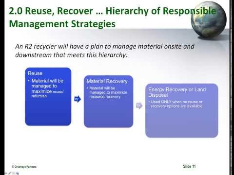 Border 2020 Webinar,  Electronic Waste R2 Solutions Certification Program