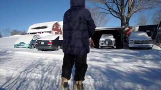 Plowing Christmas Snow with Bigfoot sighting