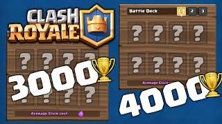 皇室戰爭 (Clash Royale): 3000杯卡组, 4000杯卡组, 如何打到3000杯? 如何打到4000杯?卡组重要吗?