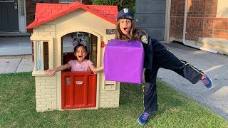 Deema and Sally Play Police Surprise Toys
