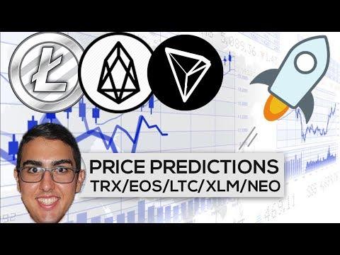 Price Predictions: Tron ($TRX), EOS ($EOS), Litecoin ($LTC), Stellar ($XLM), NEO ($NEO), & More!