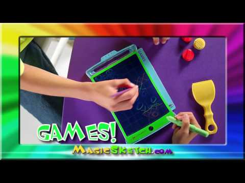 MAGIC SKETCH Official TV Commercial (Boogie Board LCD eWriter)