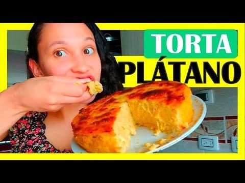Como Hacer Una TORTA DE PLÁTANO maduro CASERA con QUESO, facil y en el horno