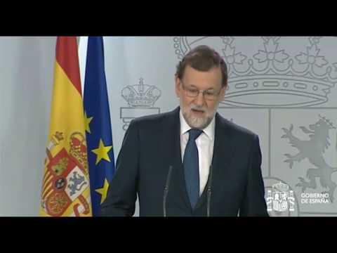 Comparecencia de Mariano Rajoy desde La Moncloa por Cataluña