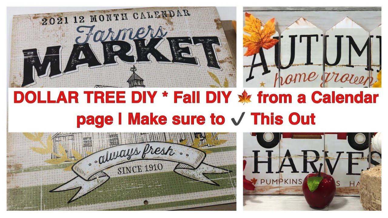 Dollar Tree Diy Fall Diy From A Calendar Page Make Sure To This Out Youtube