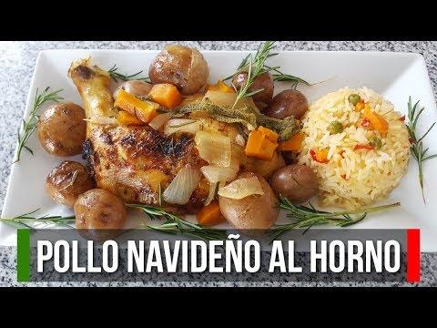 🍖 Pollo Navideño al Horno - Cómo preparar cena navideña | Estilo Marilin
