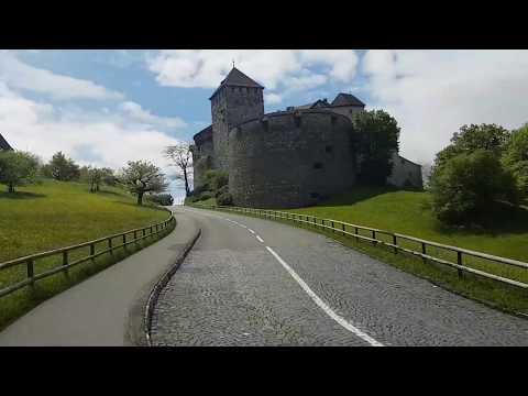 Liechtenstein Vaduz Şatosu Tırmanış (Liechtenstein Prensinin Kaldığı Şato)