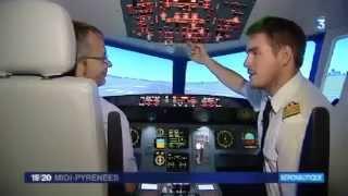 Reportage France 3 sur AviaSim Toulouse