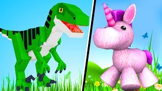 Roblox - UNICÓRNIO OU DINOSSAURO? (Would You Rather..?)