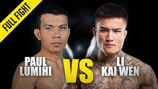 Paul Lumihi vs. Li Kai Wen | ONE Full Fight | November 2019