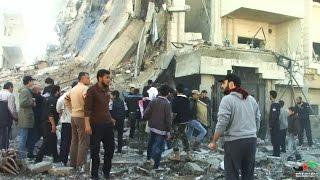 هجمات انتقامية للنظام على حي الوعر المحاصر و الكوادر الطبية تناشد المجتمع الدولي بإنقاذ المدنيين