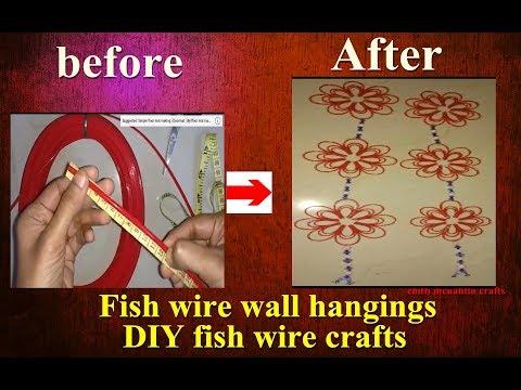 Fish wire hanging flowers/fish wire Craft ideas/Door hanging
