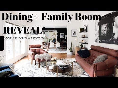 Modern Cozy Mid Century Mod Family & Dining Room MAKEOVER | Scandinavian Inspired