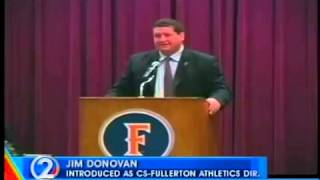 Cal State Fullerton offers Jim Donovan AD position