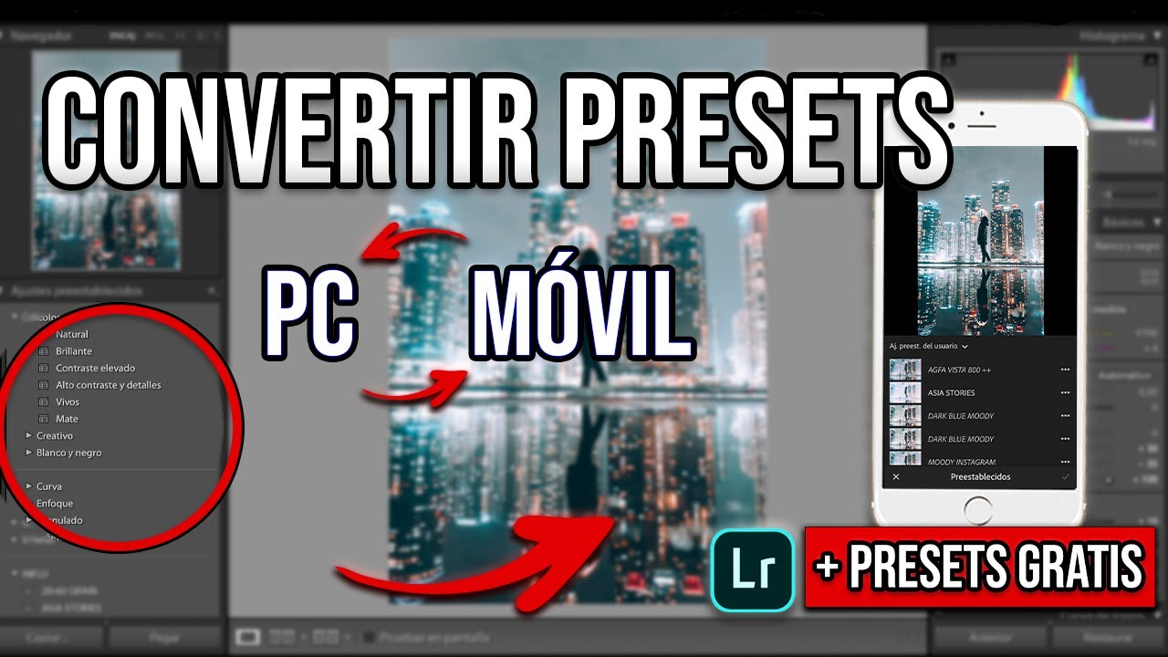 CONVERTIR PRESETS de LIGHTROOM PC a MÓVIL o PC a MÓVIL + PRESETS GRATIS