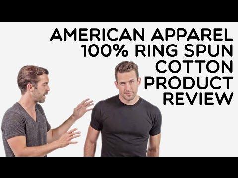 Custom American Apparel 100% Ring Spun Cotton T-Shirt Product Review