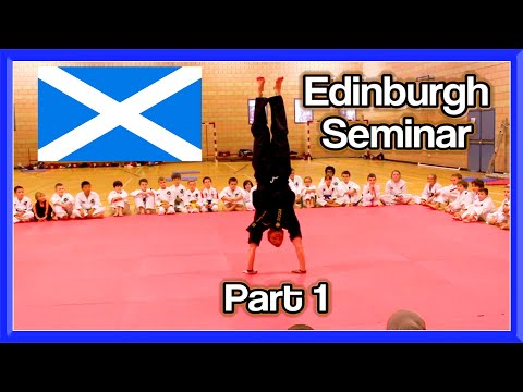 Taekwondo Seminar/Workshop in Edinburgh  (Part 1)   Ginger Ninja Trickster