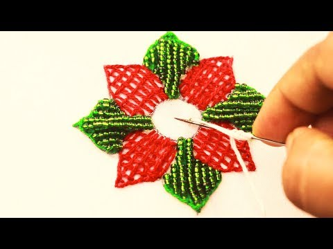 Hand Embroidery: Beadwork, Flower Embroidery with Beads, Beaded Flower Embroidery