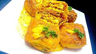 Pillow Chicken പില്ലോ ചിക്കൻ Malabar Snack / Iftar / Nombuthura Dish for Ramadan
