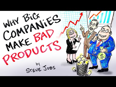 Why Do Big Companies Lack Creativity? - Steve Jobs