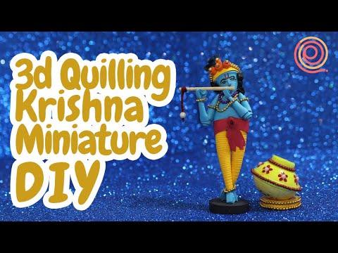 DIY Krishna Miniature   Quilling Krishna Miniature   PQP #72