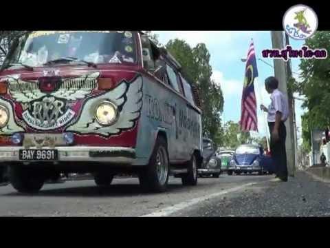 ปล่อยขบวนรถโฟล์ค รถเต่าโบราณ ของคณะจากประเทศมาเลเซีย