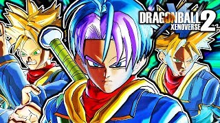 Dragon Ball Xenoverse 2 PC: EX Trunks DLC Pack Mod Gameplay (Dragon Ball Fusions 3DS)