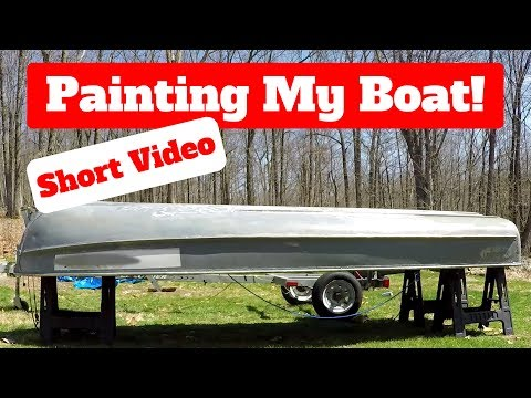 How to Paint an Aluminum Boat - Short Video