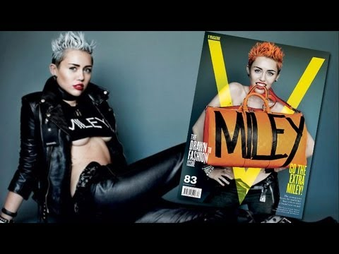 Miley Cyrus Racy V Magazine Cover & Hair Chop Explained